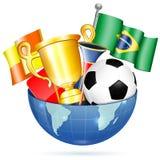 Artículos del fútbol Imagen de archivo libre de regalías