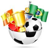 Artículos del fútbol Fotografía de archivo