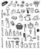 Artículos del garabato del hogar Imagen de archivo