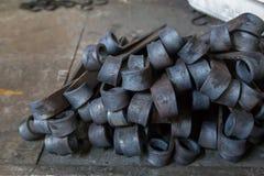 Artículos del hierro restaurados Foto de archivo libre de regalías