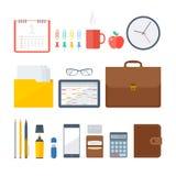 Artículos del lugar de trabajo del negocio y de la oficina Foto de archivo libre de regalías