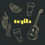Artículos del partido del Tequila Imagen de archivo libre de regalías