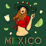Artículos del partido del Tequila Fotos de archivo