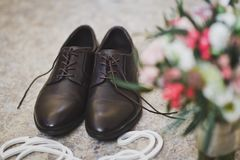 Artículos masculinos de la joyería, traje para la boda 9973 Fotografía de archivo