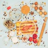 Artículos para cocinar las galletas Foto de archivo