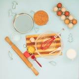 Artículos para cocinar las galletas Imagen de archivo