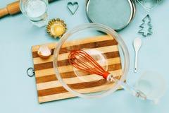 Artículos para cocinar las galletas Imagenes de archivo