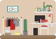 Artículos para el hogar en el cuarto ilustración del vector