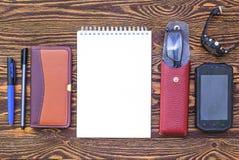 Artículos para el negocio acertado Imagen de archivo