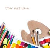 Artículos para la creatividad de los niños Fotografía de archivo libre de regalías