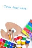 Artículos para la creatividad de los niños Fotos de archivo libres de regalías