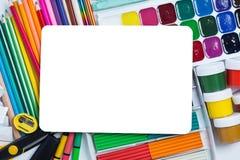 Artículos para la creatividad de los niños Imagen de archivo libre de regalías