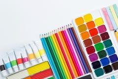 Artículos para la creatividad de los niños Foto de archivo