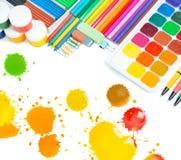 Artículos para la creatividad de los niños Fotografía de archivo