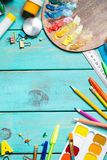 Artículos para la creatividad del ` s de los niños foto de archivo libre de regalías