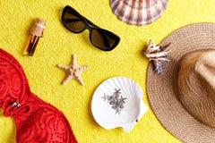Artículos para las vacaciones de verano Foto de archivo