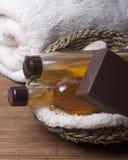 Artículos para los tratamientos del balneario, higiene personal Foto de archivo libre de regalías