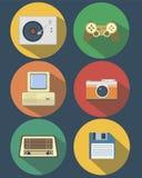 Artículos retros de la tecnología Imagen de archivo