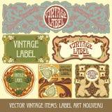 Artículos vintages del vector Foto de archivo libre de regalías