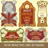 Artículos vintages del vector Foto de archivo