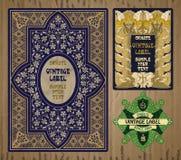 Artículos vintages: etiqueta Art Nouveau Foto de archivo