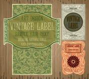 Artículos vintages: etiqueta Art Nouveau Imágenes de archivo libres de regalías