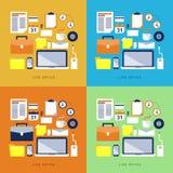 Artículos y elementos de la oficina Imagen de archivo libre de regalías