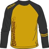 Artístico do t-shirt longo para a música do esporte e ocasional desportivos Imagem de Stock