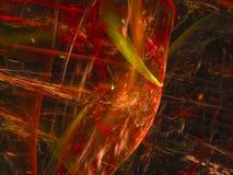 Artístico futurista del papel pintado del fractal del misterio de la decoración del brillo del caos creativo futurista abstracto  fotografía de archivo libre de regalías