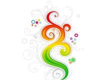 Artísticos coloridos abstractos estallan el ejemplo del vector ilustración del vector