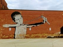 Art étonnant de rue de ville image libre de droits