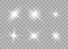 Set of glow lights effect stock illustration