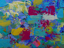 Art. Paints on canvas with acryl colours Royalty Free Stock Photo