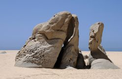 The Art. Pieces of natural art on Lovers' beach in Cabo San Lucas, Mexico Stock Image