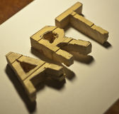 Art. Word of the wooden letters Stock Photography
