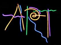 Art. Neon Sign