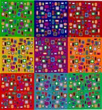 Art. Illustration of an arty background in different colours Stock Images