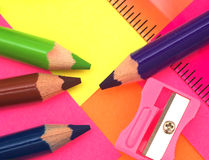 Art. Various drawing tools Stock Image