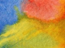 Watercolor art abstract background fresh sky sun shine beautiful modern textured wet wash blurred fantasy. Art abstract background extruded in watercolor. nature stock images