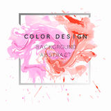 Art abstract background watercolor paint  texture design poster illustration  over square frame. Stock Images