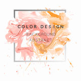 Art abstract background watercolor paint  texture design poster illustration  over square frame. Stock Photo