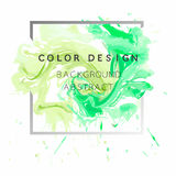 Art abstract background watercolor paint  texture design poster illustration vector over square frame. Stock Images