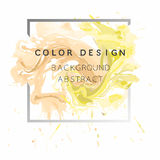 Art abstract background watercolor paint  texture design poster illustration vector over square frame. Stock Photo
