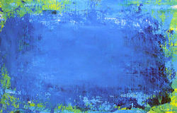 Art abstract blue background. Painted with acrylic colors Stock Images