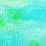 Art abstract blue and green watercolor painting design textured. On white paper background royalty free stock photo