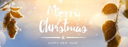 Art Abstract Christmas-achtergrond; de winterlandschap Stock Afbeelding