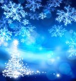 Art abstract christmas blue background Royalty Free Stock Photos