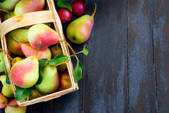 Art abstract design background  fruits on a wooden background Stock Photos