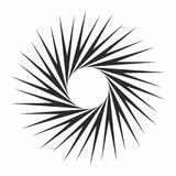Art abstract design element sunray burst monochrome circle spiral effect vector for web and print. Art abstract design element sunray burst monochrome black Stock Photo