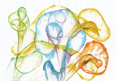 Art Abstract Flowers illustrazione vettoriale